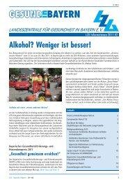 PDF (2,7 MB) - Landeszentrale für Gesundheit in Bayern e.V.