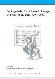 (BGPP) 2009 - Landeszentrale für Gesundheit in Bayern e.V.