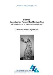 Fünftes Bayerisches Forum Suchtprävention - Landeszentrale für ...