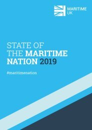 Maritime UK - state of the maritime nation report 2019