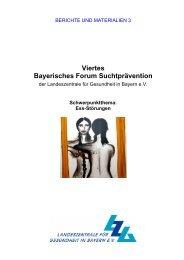 Viertes Bayerisches Forum Suchtprävention - Landeszentrale für ...