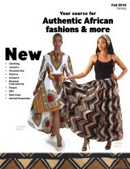 Shades of Africa Fall Catalog 2019