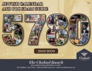 PROGRAM GUIDE AND JEWISH CALENDAR - CHABAD @ THE RANCH, MOORPARK