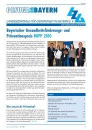 PDF (1 MB) - Landeszentrale für Gesundheit in Bayern e.V.