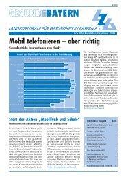 PDF (237 KB) - Landeszentrale  für Gesundheit in Bayern e.V.