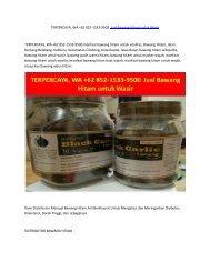 TERPERCAYA, WA +62 852-1533-9500  Jual Bawang Hitam untuk Wasir
