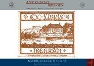 Antikvariat Bryggen - Katalog 112 - Nordisk arkeologi & historie