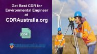 CDR for Environmental Engineer Australia by CDRAustralia.org