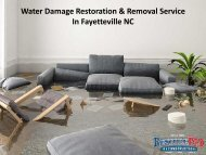 Water Damage Restoration & Removal Service in Fayetteville NC