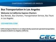 Bus Transportation in Los Angeles