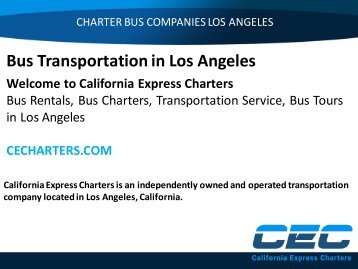 Bus Transportation in Los Angeles
