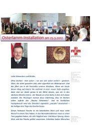 Predigt zum Pascha-Geheimnis von Pfarrer Engelbert Birkle
