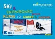 Skischule München Katalog - 2020