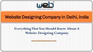 Website Designing Company in Delhi, India
