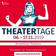 PROGRAMMHEFT HEIDELBERGER THEATERTAGE 2019