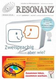 RESONANZ INTERKULTUR WISSENSMAGAZIN 09-2019 | Spezial:  Mehrsprachigkeit