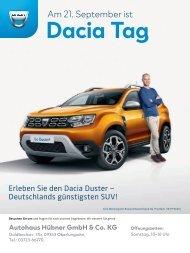 Dacia Autohaus Hübner - 14.09.2019