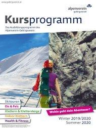 Alpenverein-Gebirgsverein Kursprogramm Winter 2019 bis Sommer2020