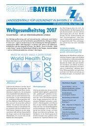 PDF (492 KB) - Landeszentrale  für Gesundheit in Bayern e.V.