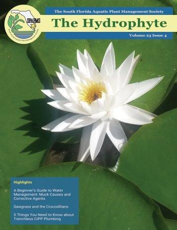 Hydrophyte Volume 23 Issue 4 - September 2019