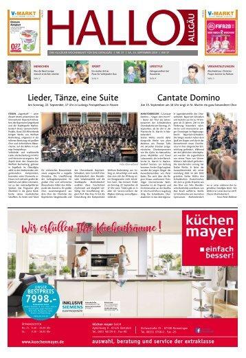 Hallo-Allgäu Kaufbeuren, Ostallgäu vom Samstag, 14.September