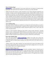 Vidalista 60mg : Side effects, Dosage, Uses | Strapcart