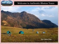 Adventurous Bhutan Trekking Tour