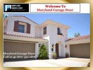 Reliable Garage Door Services Maryland