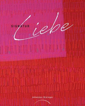 "Leseprobe ""Signatur Liebe"""