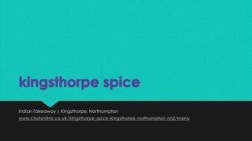 kingsthorpe spice
