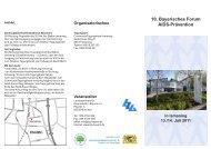 10. Bayerisches Forum AIDS-Prävention - Landeszentrale für ...