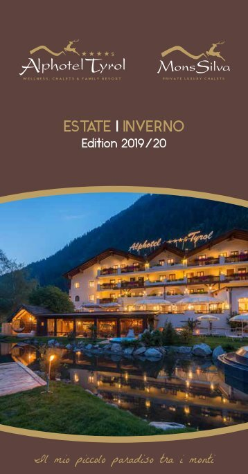 Alphotel Tyrol - Prospekt ital. 2019-20