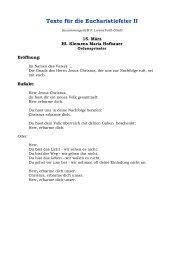 Texte für die Eucharistiefeier II - redemptoristen