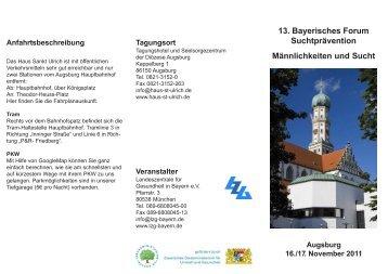 13. Bayerisches Forum Suchtprävention Männlichkeiten und Sucht ...