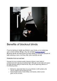 Benefits of blockout blinds