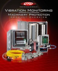 ACOEM CTC Vibration Monitoring & Machinery Protection Product Overview brochure