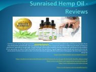 Sunraised Hemp Oil - An Help Reduce Inflammation Naturally