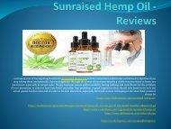 Sunraised Hemp Oil - An Help Reduce Inflammation Naturally