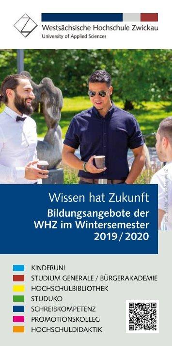 Wissen hat Zukunft Wintersemester 2019/20