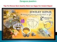 Tips To Choose Best Jewelry Store Las Vegas For Instant Repair