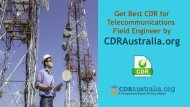 CDR for Telecommunications Field Engineer