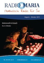 Radio Maria Magazin - Oktober 2019