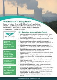 Internet of Energy Market Analysis and Forecast 2019-2024