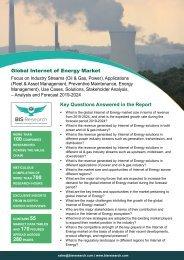 Internet of Energy Market Analysis and Forecast 2019-2024