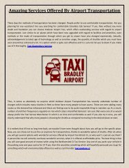 Amazing Services Offered By Airport Transportation1