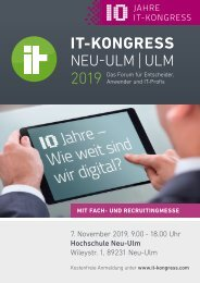 IT-Kongress Neu-Ulm | Ulm 2019