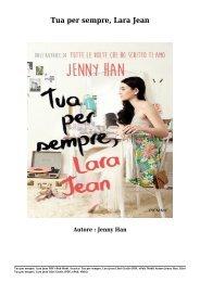 Scarica Tua per sempre, Lara Jean Libri Gratis (PDF, ePub, Mobi) Di Jenny Han