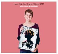 Bücher Katalog Herbst/ Winter 2019