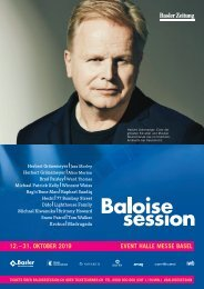 Baloise Session 2019: Beilage BaZ