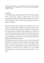 Dr. Georg Doerr -- Rezension von Durs Grünbein: Das erste Jahr -- Berliner Aufzeichnungen. Suhrkamp: Frankfurt am Main 2001.
